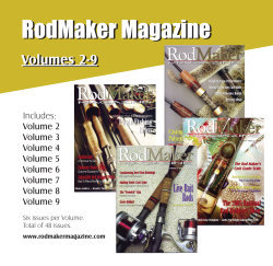 cover of cd containing published and printed volumes 2 to 9 of rodmaker magazine