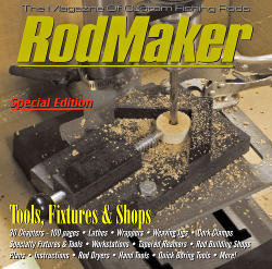 cover of rodmaker magazine tools, fixtures and shops cd