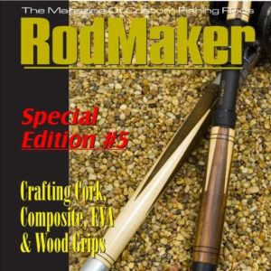 cover of special edition cd with comprehensive information on turning fishing rod grips